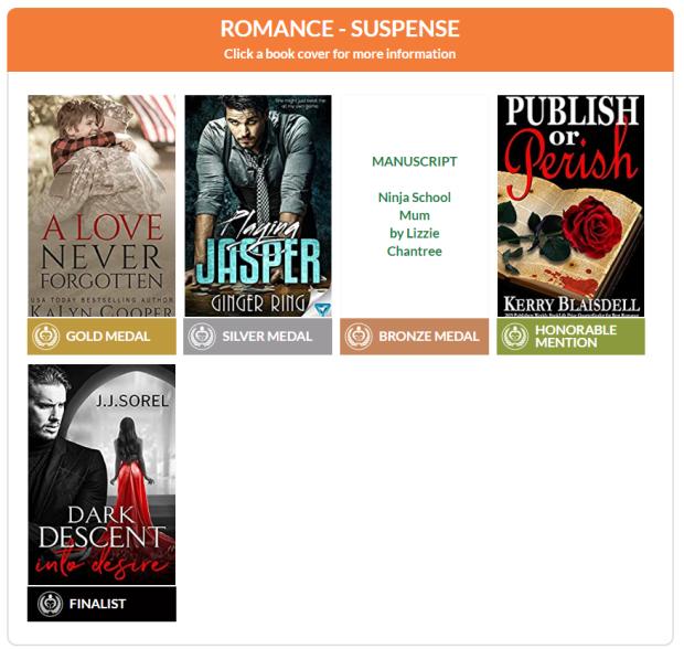 2020 Readers Favorite - Romance - Suspense